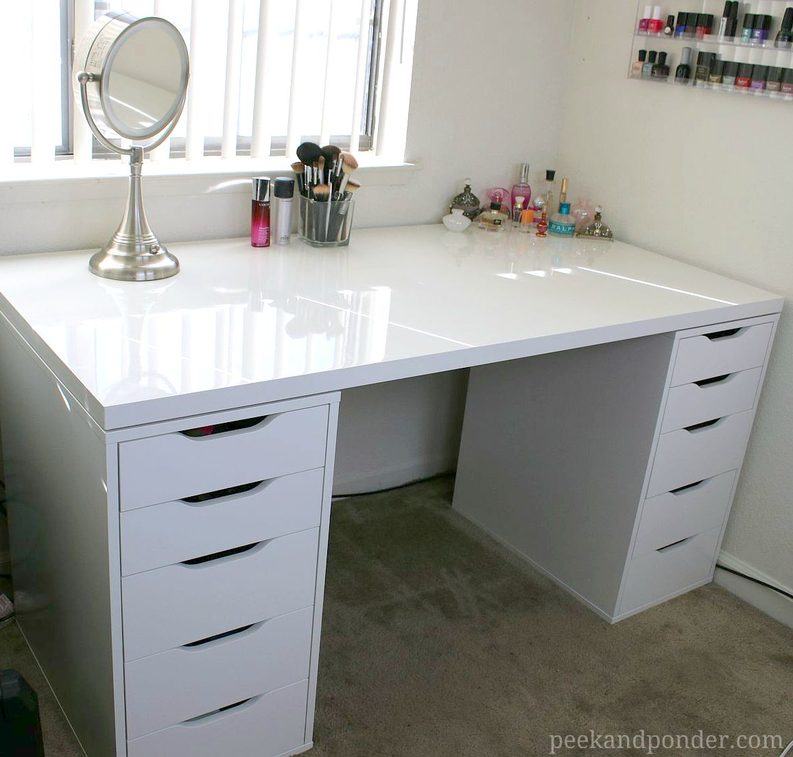 Video Makeup Vanity And Storage Peek Ponder Ikea Makeup Storage Ikea Drawers Diy Makeup Storage