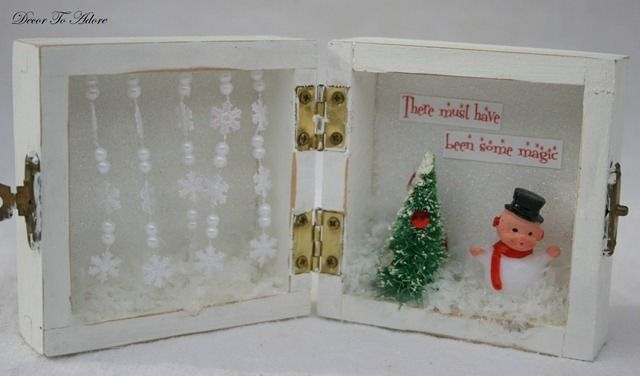 Another Christmas craft from an unfinished box (there are several)(from Decor To Adore)