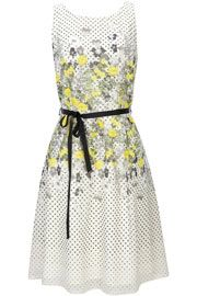 Ivory Floral and Spot Dress