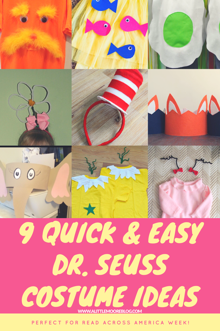 Nine Quick And Easy Dr Seuss Costumes For Kids Easy Book