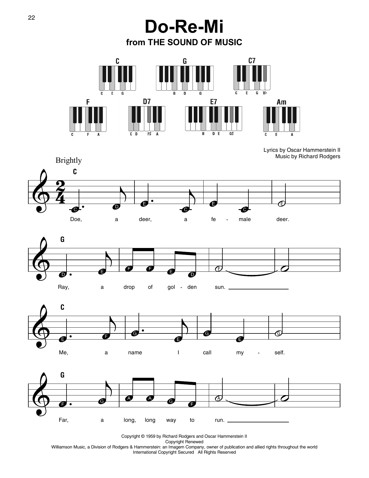 DoReMi by Rodgers & Hammerstein Super Easy Piano Digital