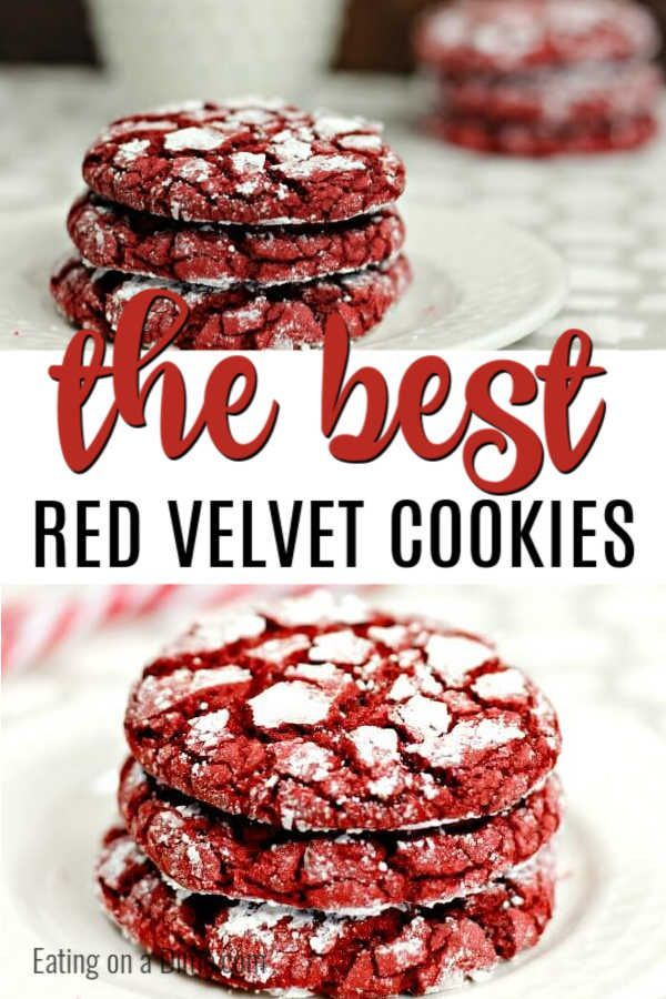 Red Velvet Cookies Recipe Easy Red Velvet Cake Mix Cookies Recipe In 2020 Red Velvet Cookie Recipe Red Velvet Cake Mix Cookies Easy Cookie Recipes