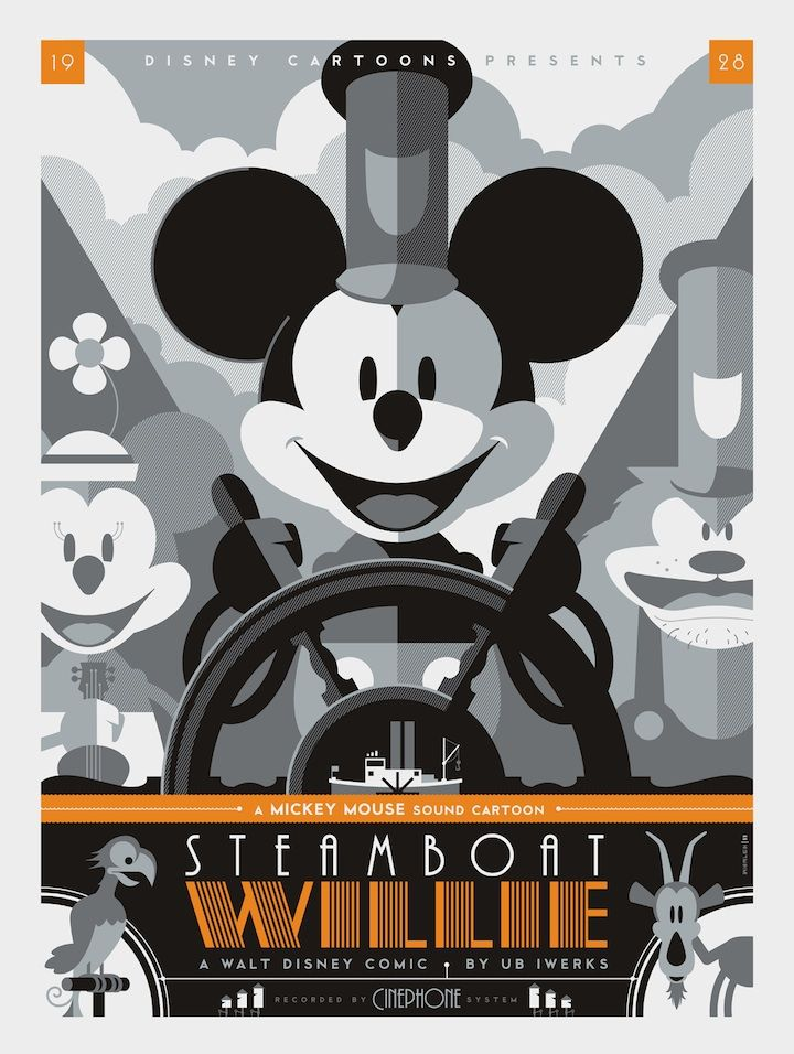A3 Vintage Mickey Mouse Poster A4 available A2 A1
