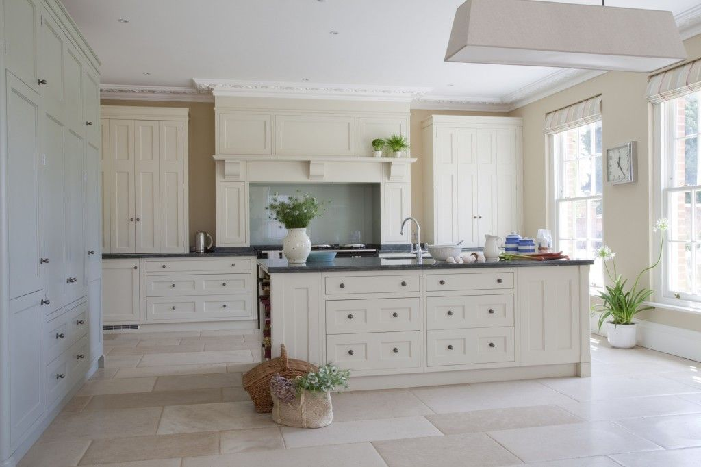 Cream Painted Working Kitchen Areas With Granite Worktops In This