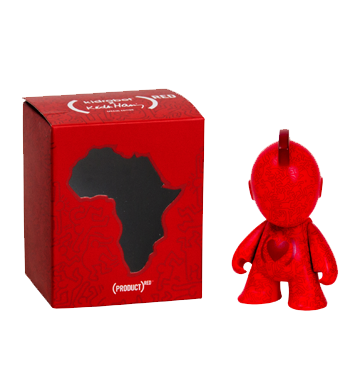 "Kidrobot X Keith Haring Special Edition Red 3"" Art For Africa Vinyl Figure"