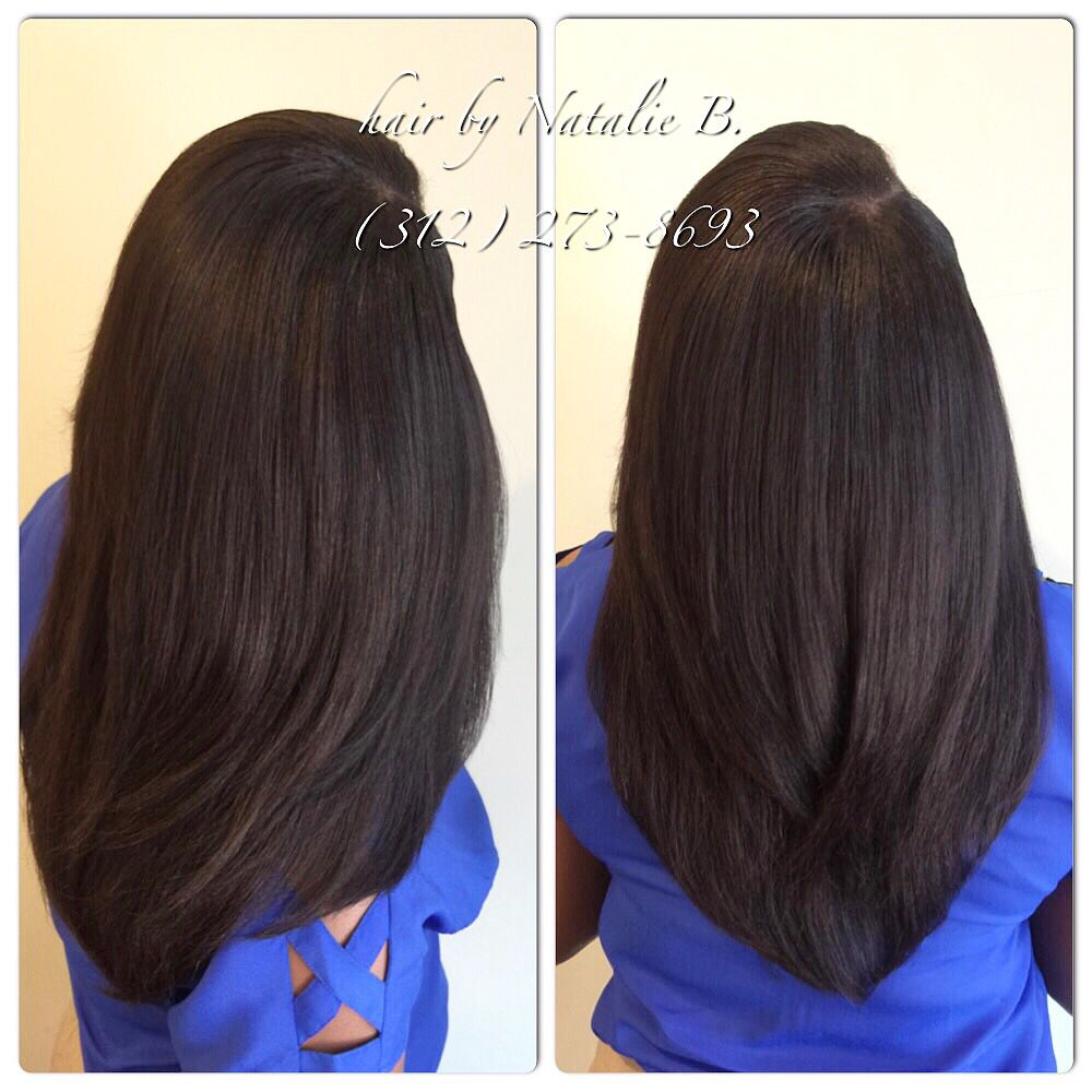 long, layered sew-in hair weave! flawless sew-in hair weaves