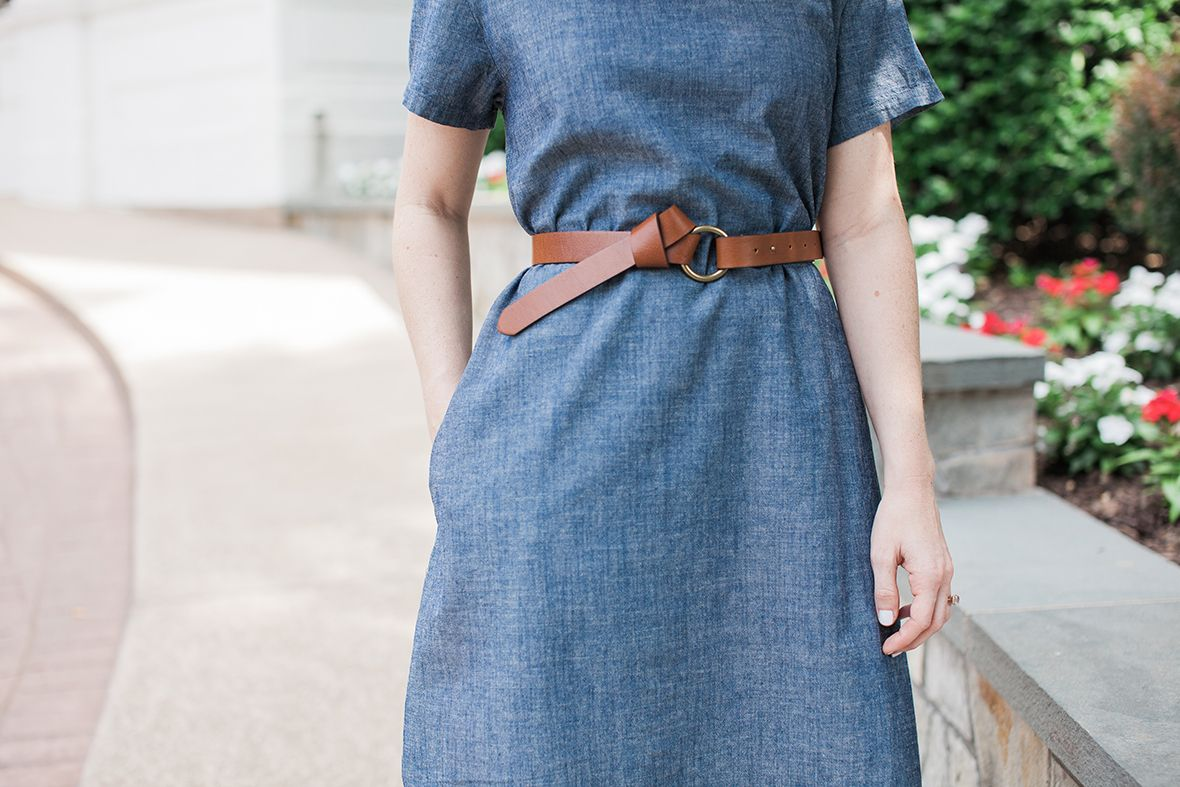 Poor Little It Girl - Monogram Chambray Dress - @poorlilitgirl