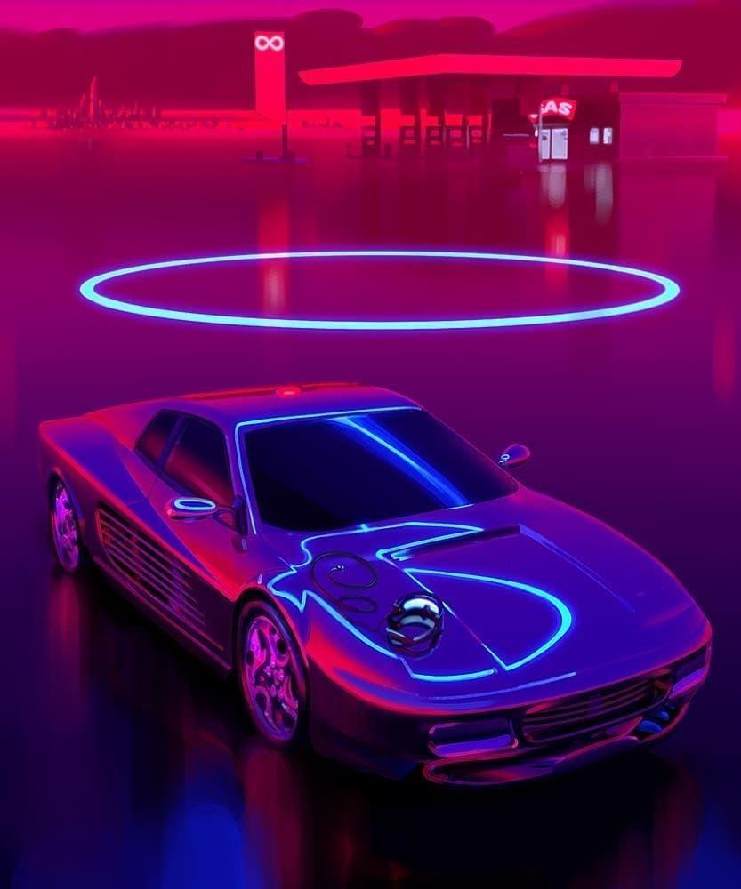 Pin By Homero On F U T U R E Neon Noir Neon Car Retro Futurism