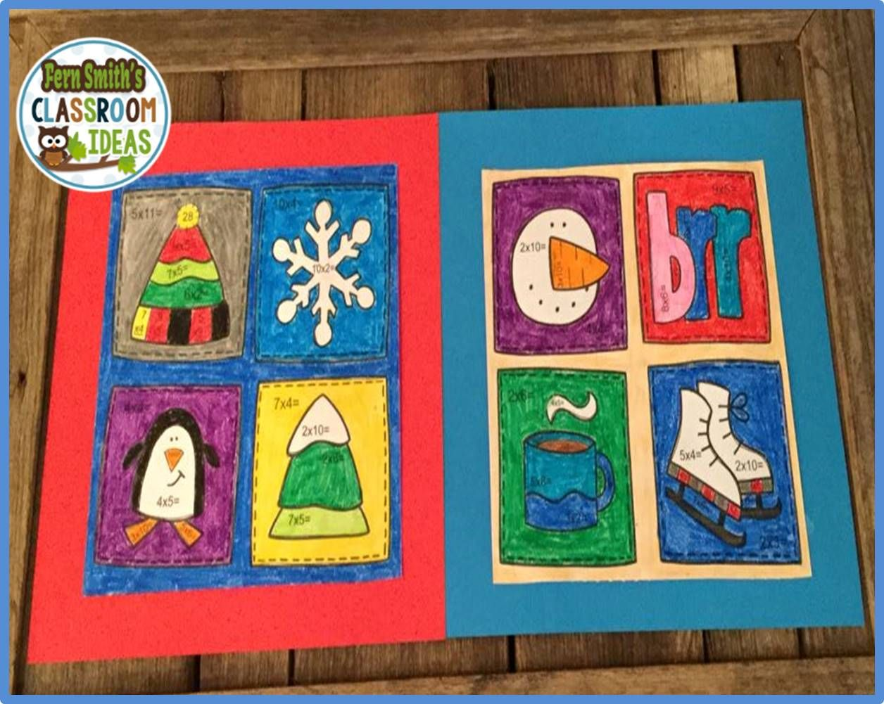 Winter Color By Number Multiplication Dollar Deal Con
