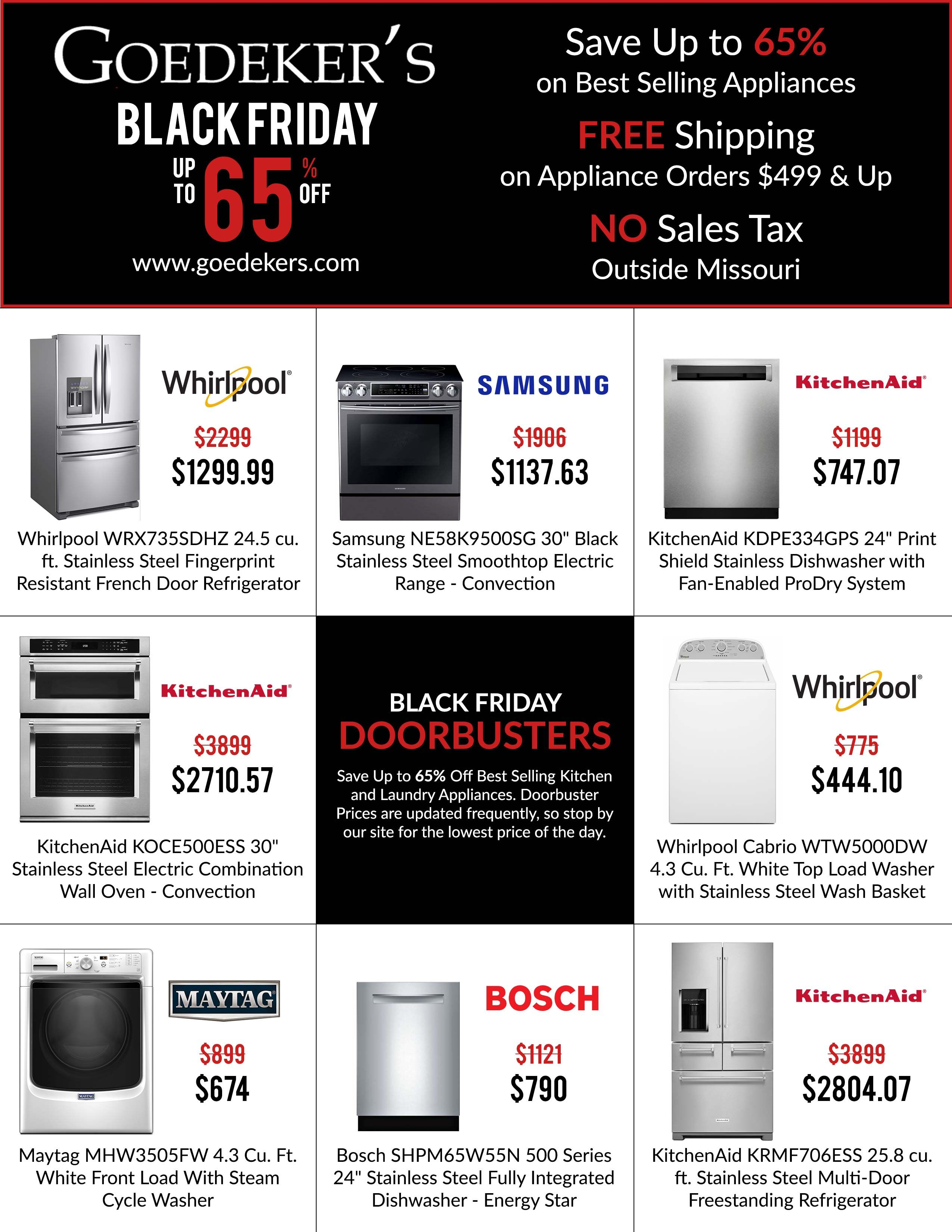 Shop Black Friday Deals At Goedeker S Hot Sellers Appliance