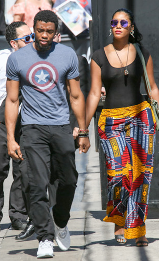 Chadwick Boseman And Girlfriend They Look Good Together I M Glad She Doesn T Look All Extra Black Panther Chadwick Boseman Black Panther Marvel Black Panther