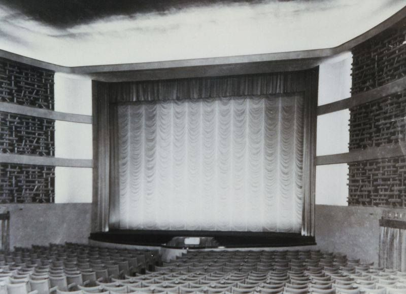 Inside the essoldo cinema which was on the corner of