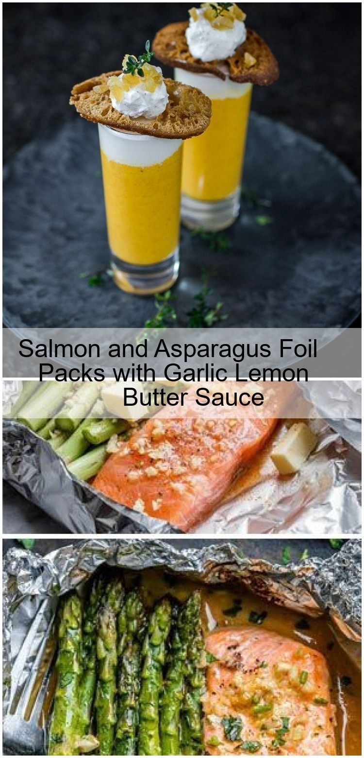Photo of Salmon and Asparagus Sachets with Lemon Garlic Butter Sauce   – Foil Pack Dinner…