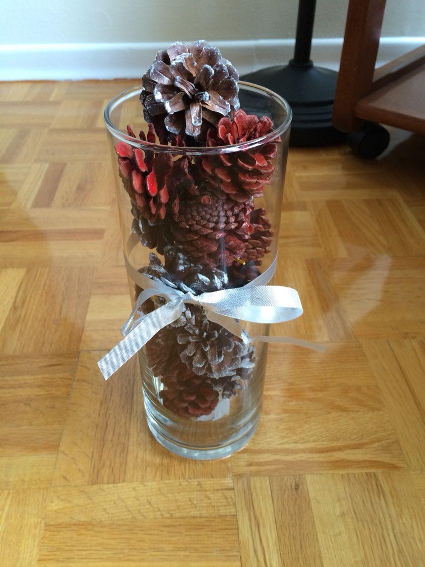 Pine cone decorative vase