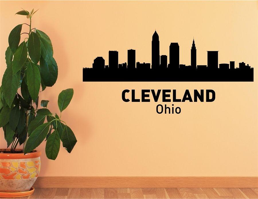 Ohio City Skyline Vinyl Wall Art Decal Sticker Lil Bubs - Custom vinyl decals cleveland ohio