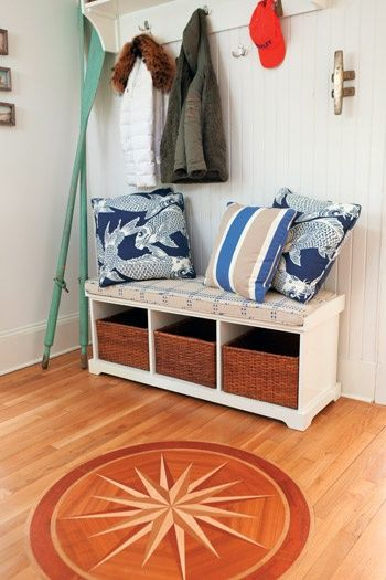 Nautical #comp rose floor inlay for foyer. #comprose ... on