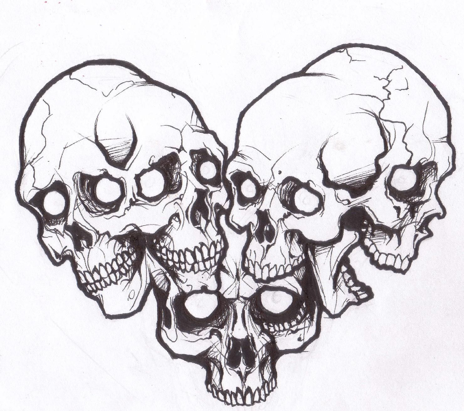 Pin By Helen Nguyen On Tattoos Skull Tattoo Tattoo Outline Skulls Drawing