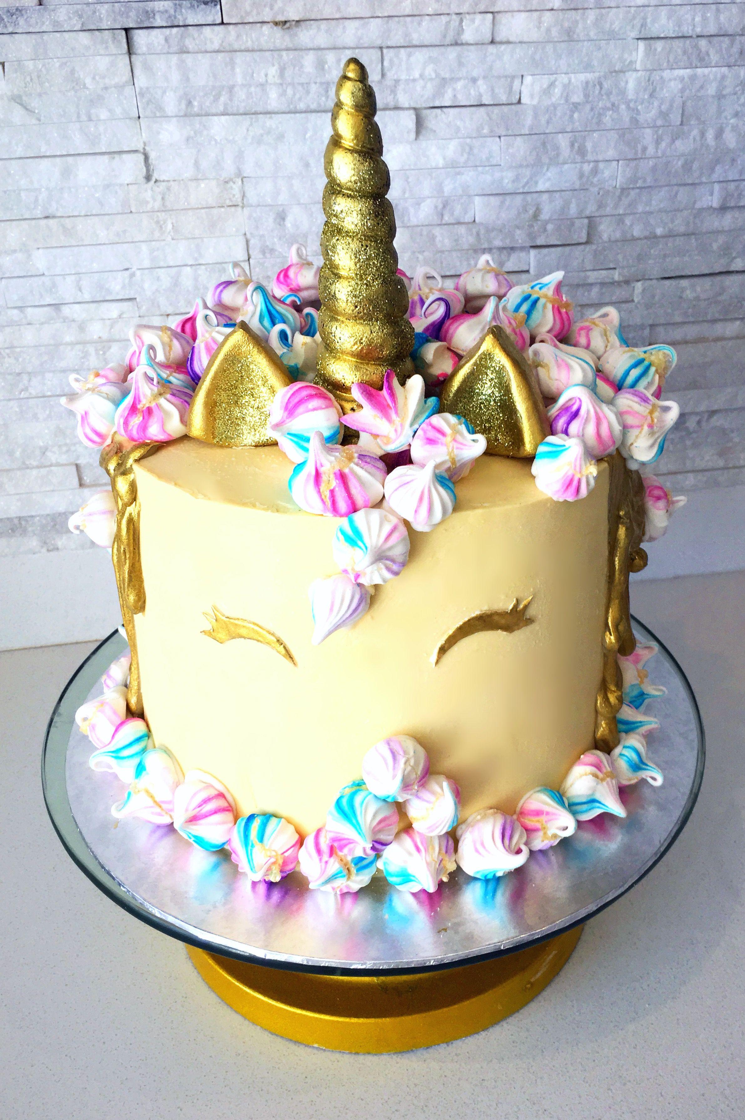 Magical Unicorn Cake With Meringue Mane With Images Birthday