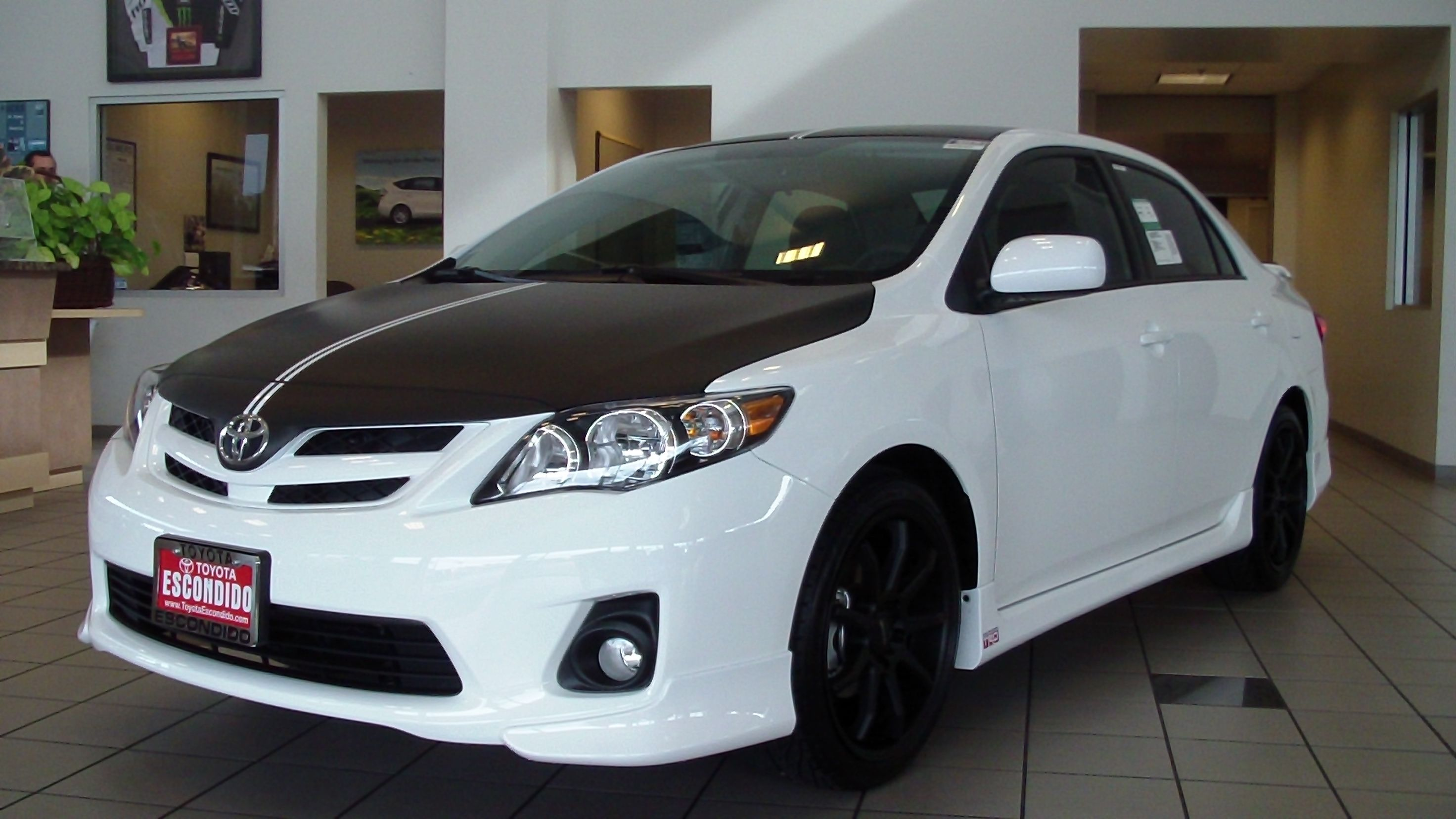 2012 Toyota Corolla S Black Wrap On Hood Roof And