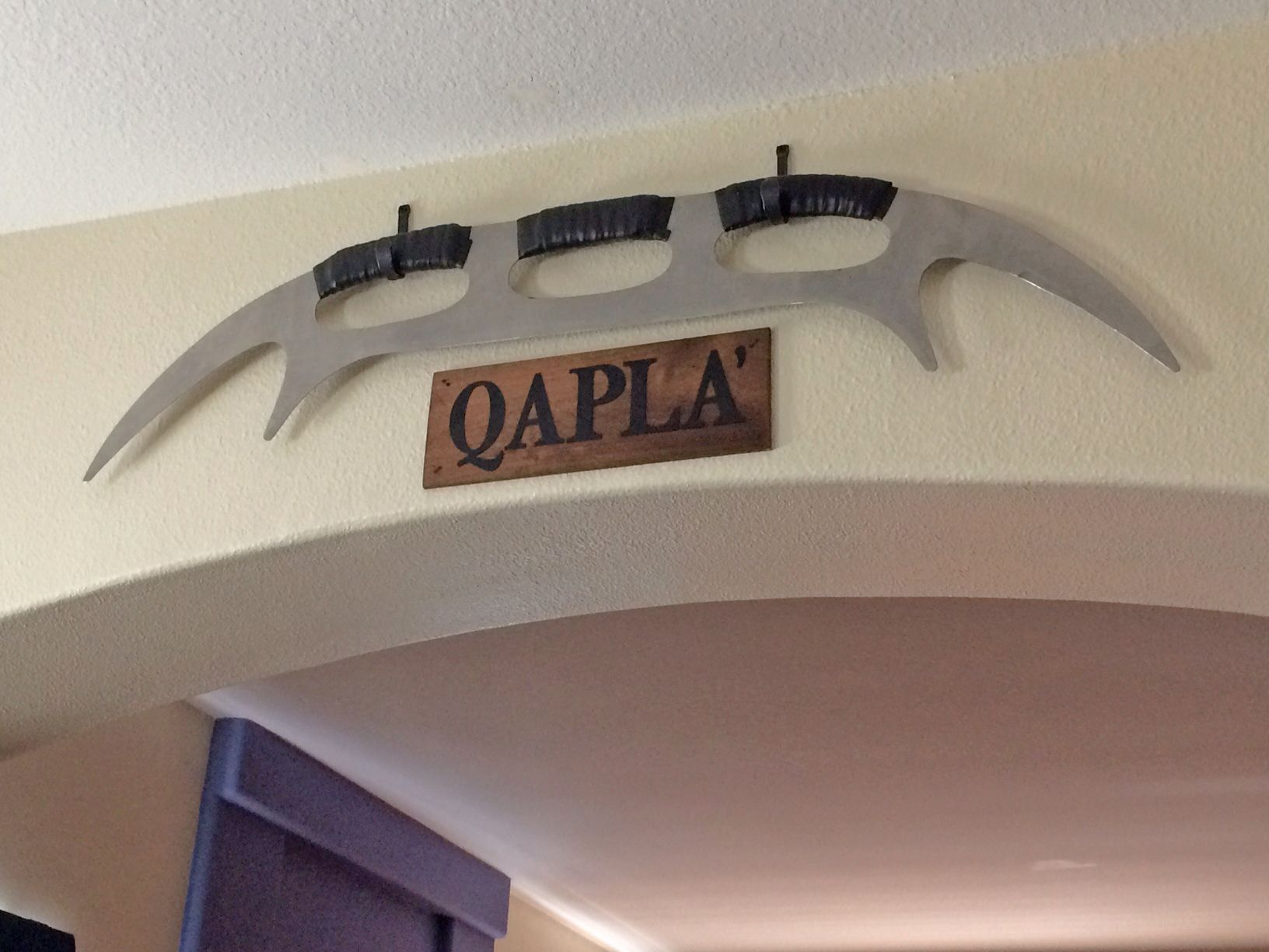 Completed 0816 Batleth Qapla Display In Our Dining Room We
