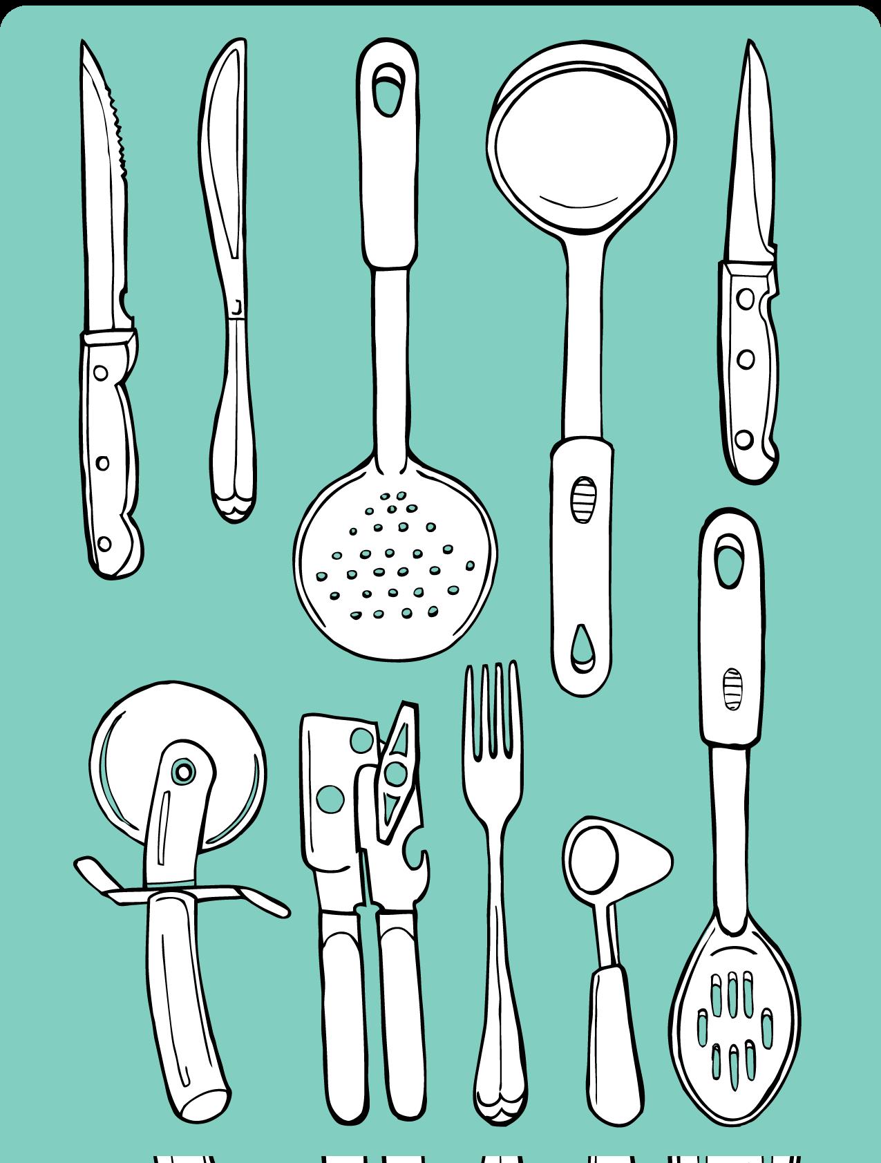 Kitchen Tools | Food illustrations, Illustrations and Doodles