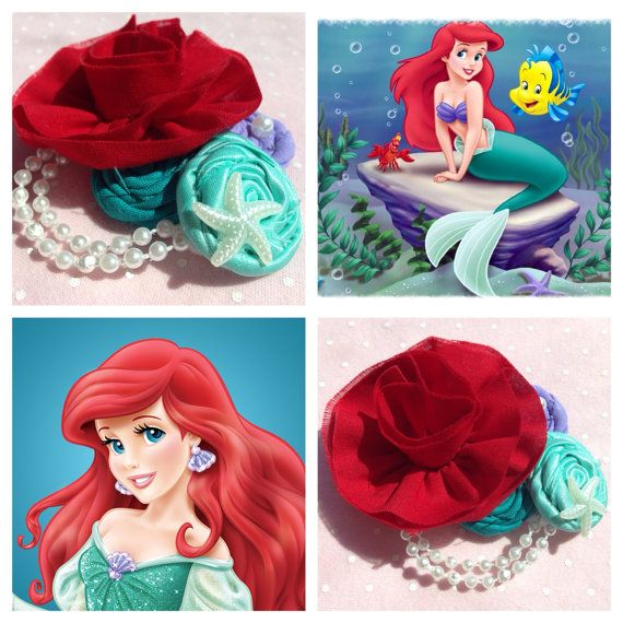 Just purchased this adorable bow for my niece!   Ariel the little mermaid clip headband by OhKayeBowKaye on Etsy