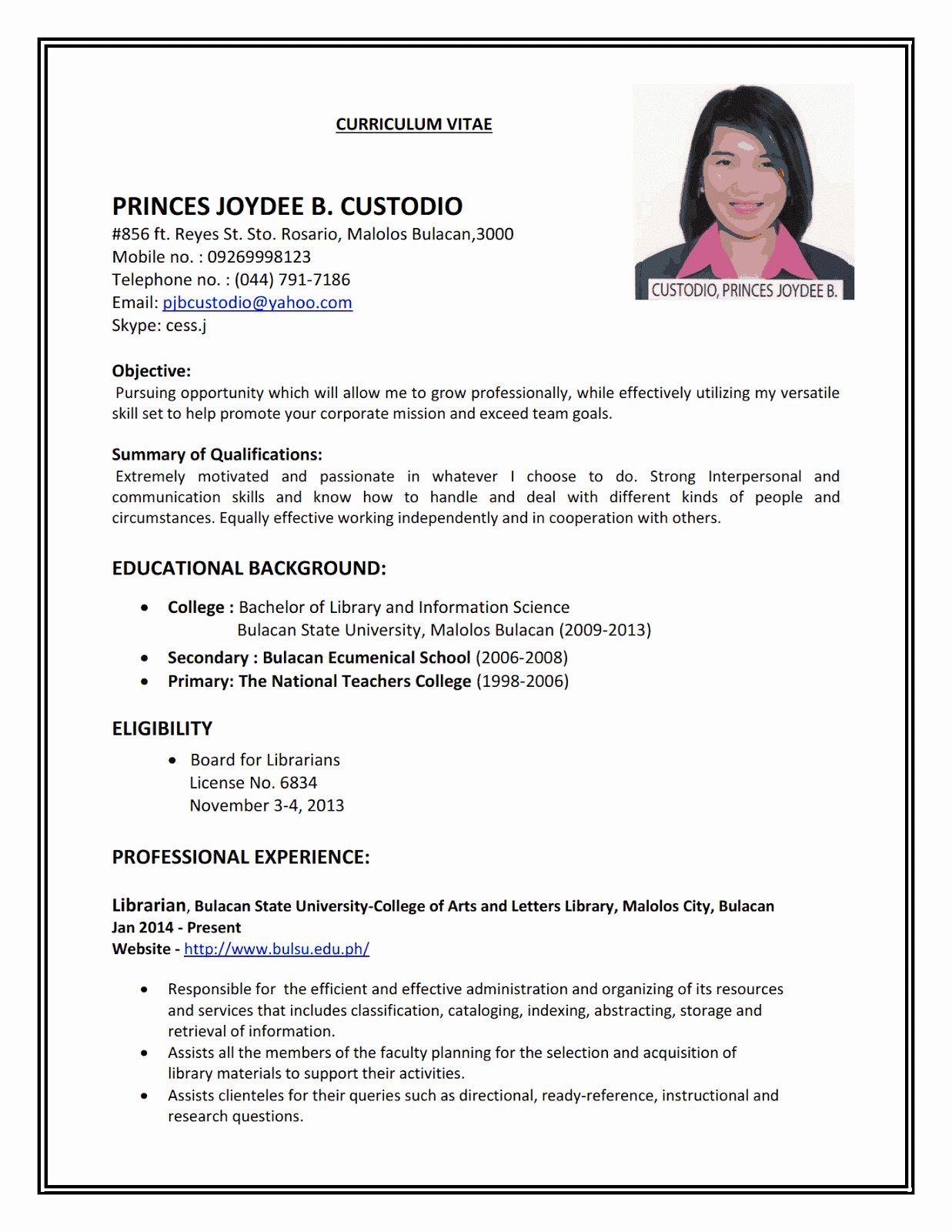 Part Time Job Resume Examples Beautiful Examples For Job 3 Resume Format Job Resume Samples Job Resume Examples Basic Resume