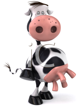 Cow standing. Royalty free clipart image