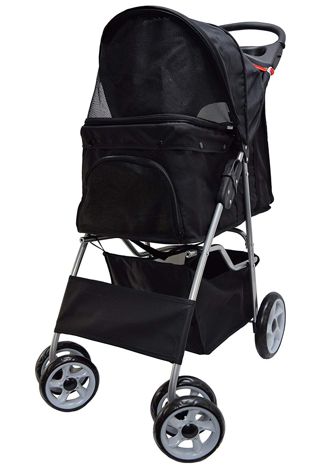 VIVO Four Wheel Pet Stroller, for Cat, Dog and More