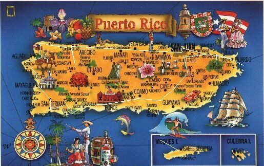 Map Of Puerto Rico Map Of Puerto Rico Showing - Map of puerto rico caribbean islands