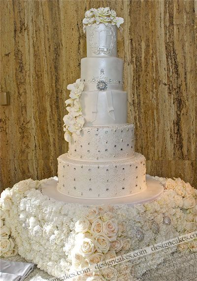 Crystals and orchids wedding cake | Flickr - Photo Sharing!