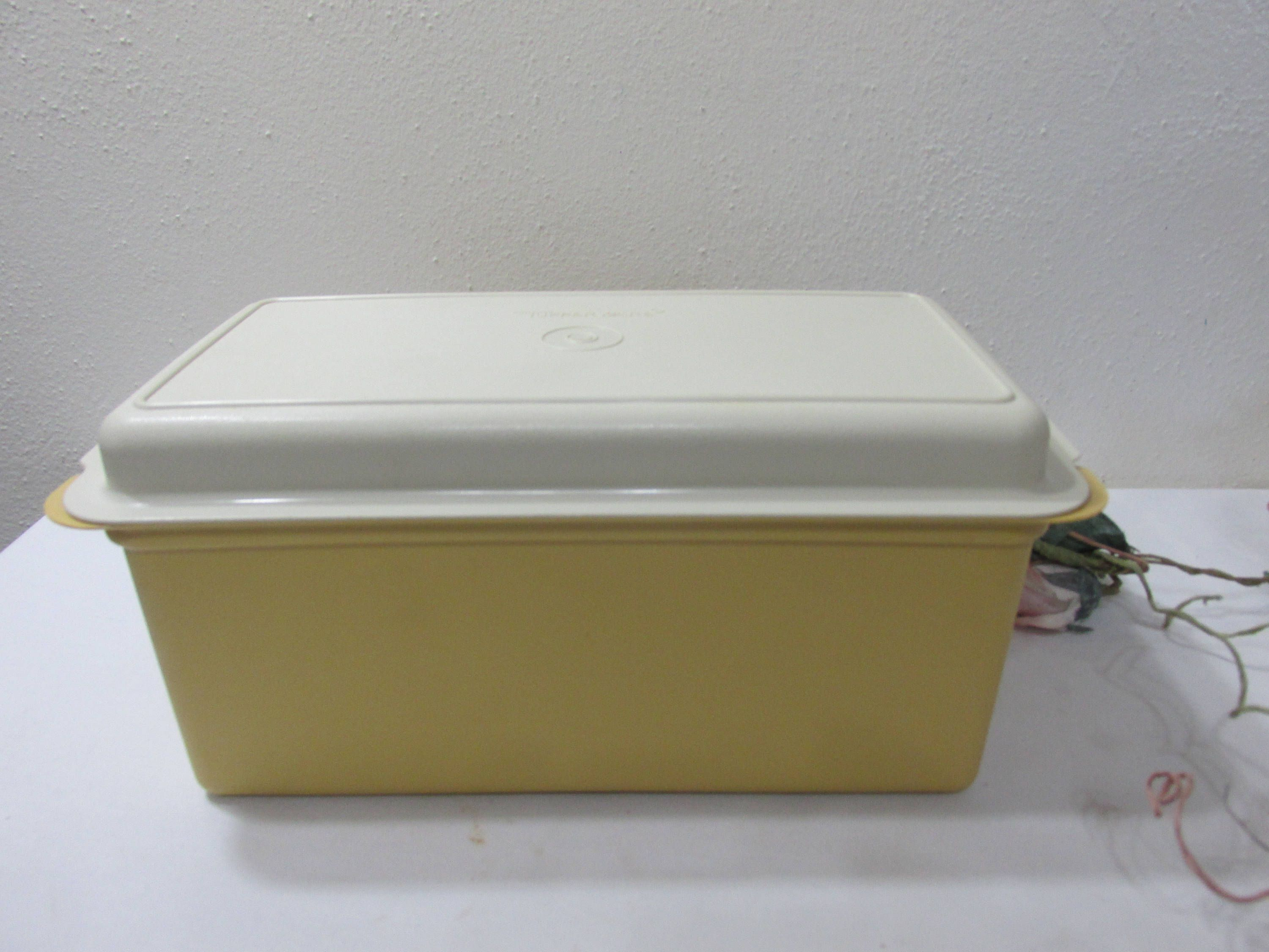Tupperware Bread Box Cracker Keeper Harvest Gold with Ivory Lid by LuRuUniques on Etsy & Tupperware Bread Box Cracker Keeper Harvest Gold with Ivory Lid by ... Aboutintivar.Com