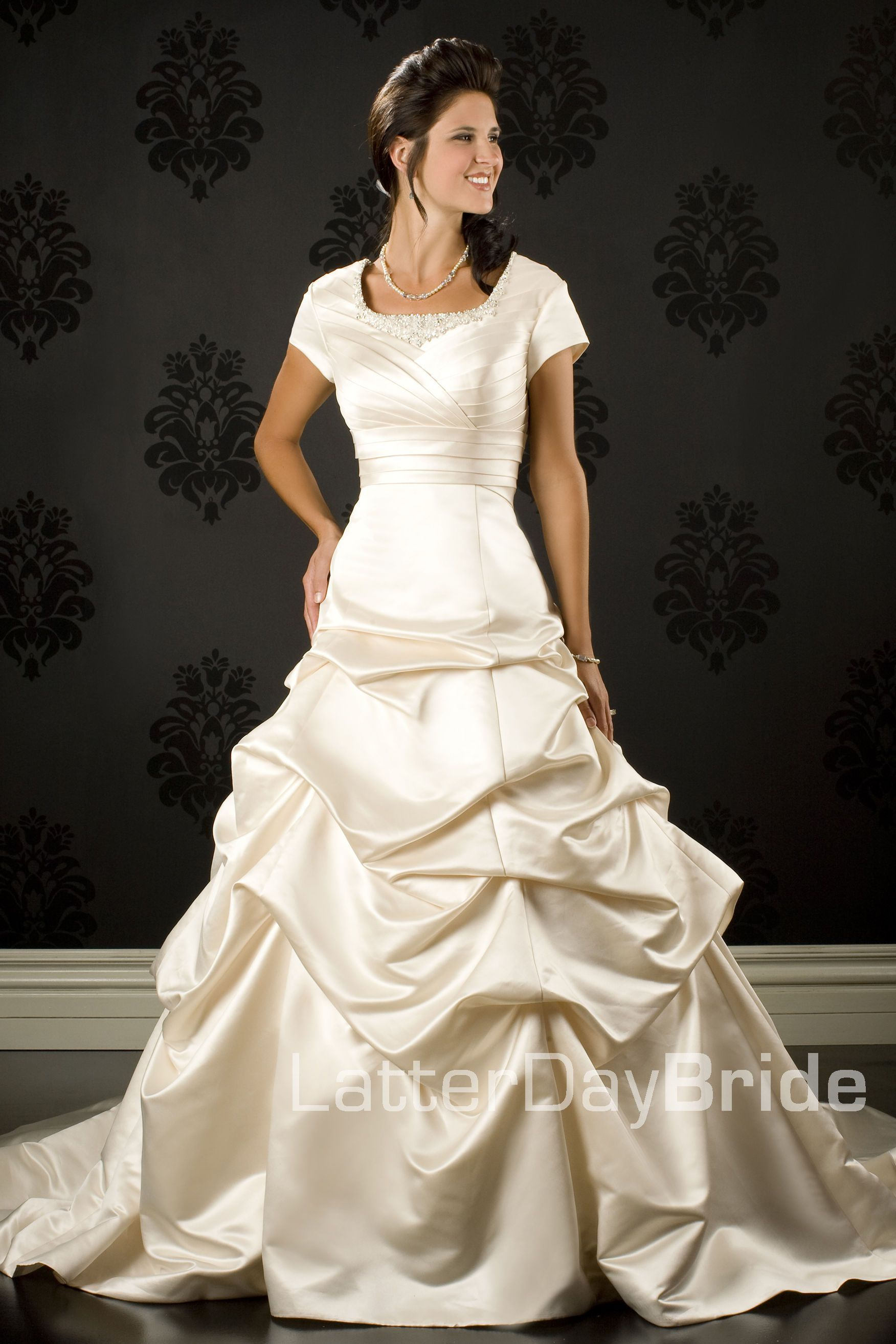 Ballgown (Wedding) Velia Wedding dresses, Modest