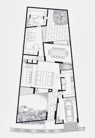 Dise o y planos de una casa en terreno con forma irregular - Terreno con casa ...