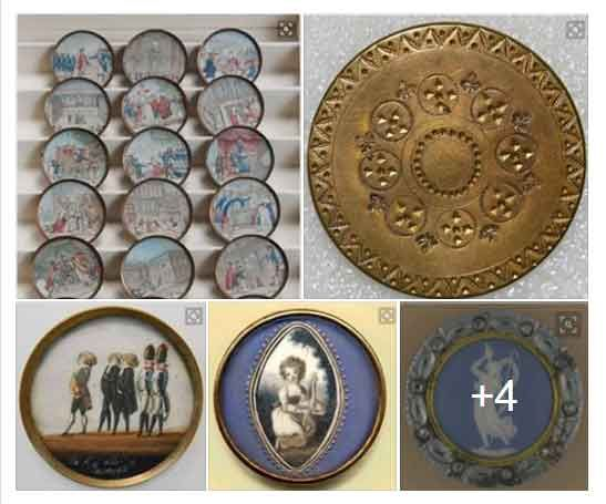 A selection of 18th Century Buttons Thanks to ButonBytes friend on FACEBOOK. #buttonlovers