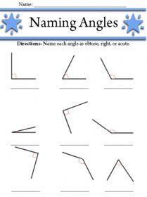 Naming Angles With Images Angles Worksheet 4th Grade Math