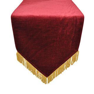 Attractive Austin Horn Classics Hamburg Velvet Red Gold Bullion Luxury Table Runner