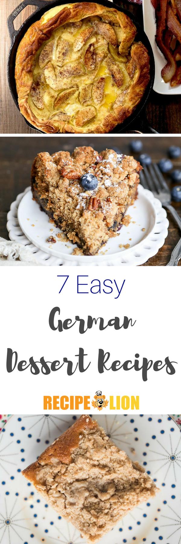9 Easy German Dessert Recipes German Desserts Dessert Recipes Desserts