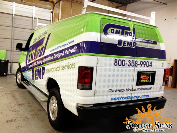 Control Temp Sports Ford E Series Van Wraps In New Jersey Truck Lettering Van Wrap Ford E Series
