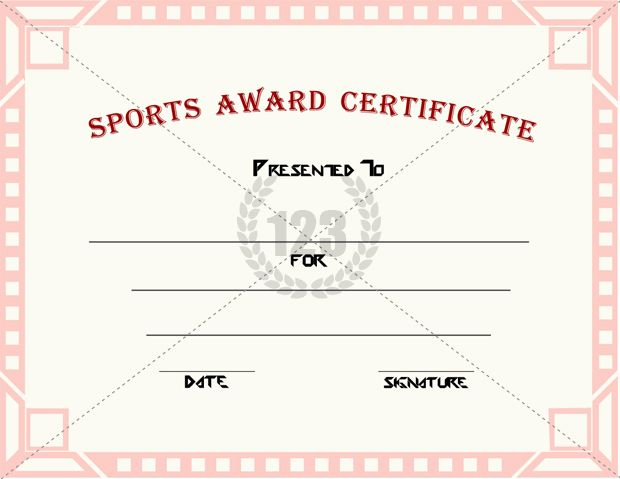 Good Sports Award Certificate Templates for free Download - blank award certificates