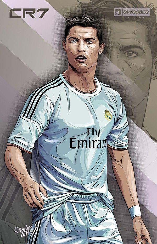 CaricaturasDibujos Cristiano Ronaldo on Behance  Real Madrid