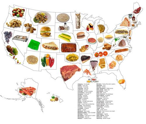 Does This Food By State Map Look Accurate