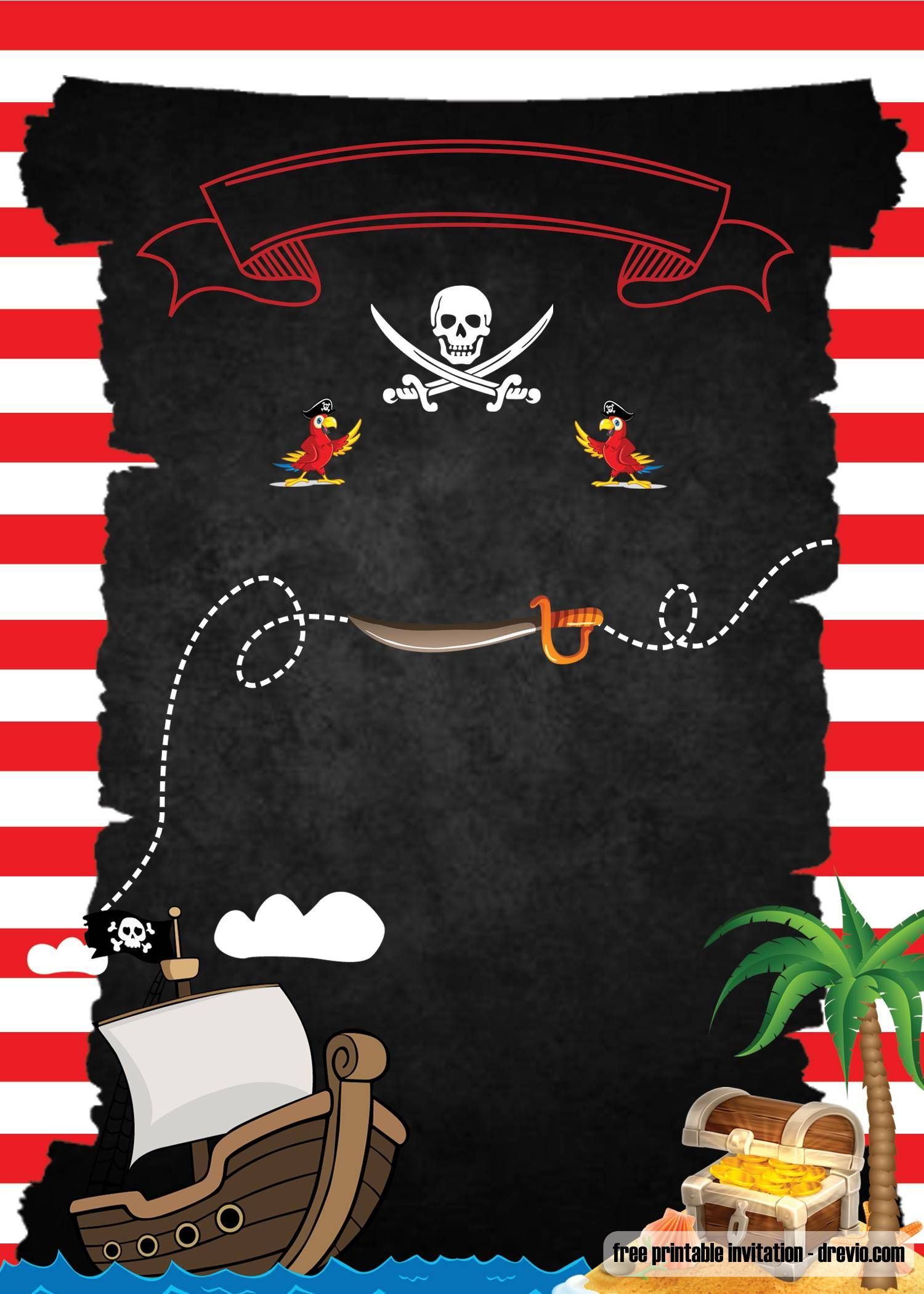 Free Printable Pirate Party Invitations Template Drevio Pirate Party Invitations Template Pirate Invitations Pirate Party Invitations Printable