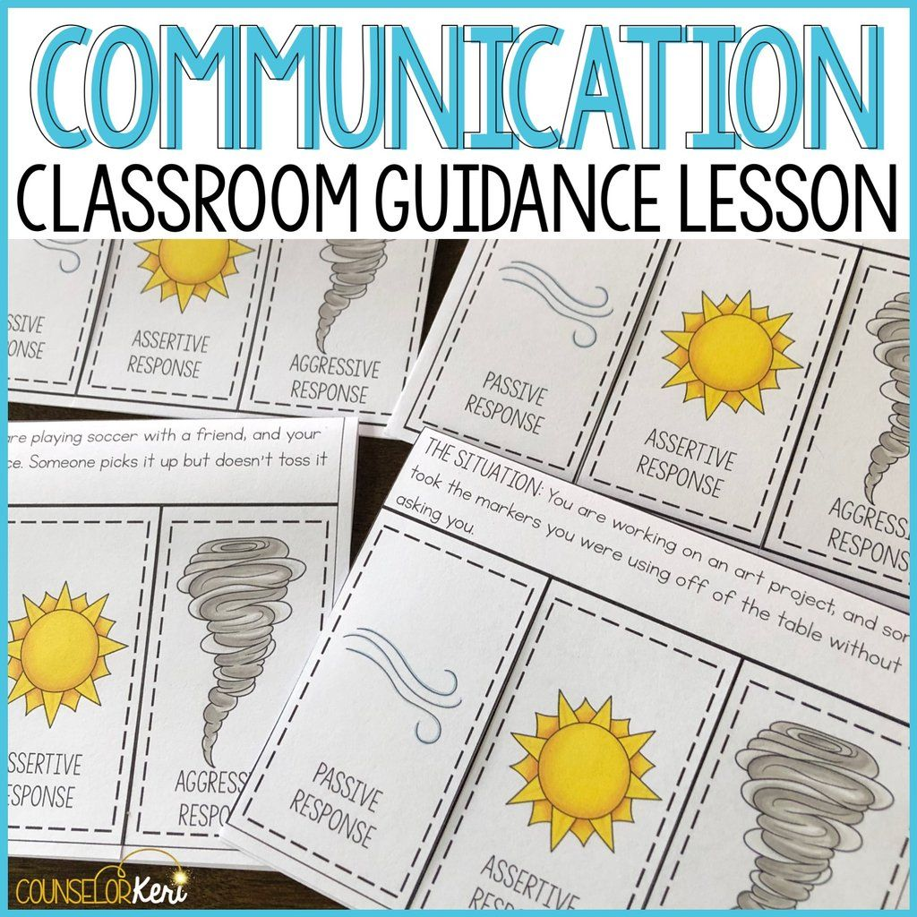 Communication Styles Classroom Guidance Lesson For School