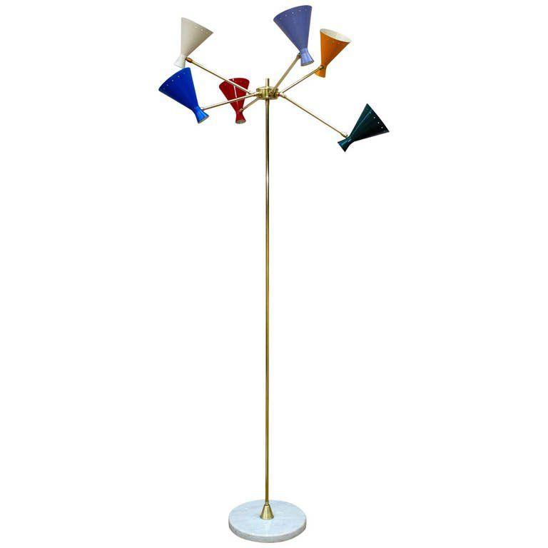 Italian Multi Arm Floor Lamp In 2019 Products Floor Lamp