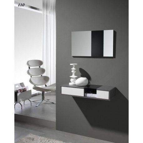 Une Jolie Console D Entree Avec Miroir Meuble Entree Meuble Entree Design Entree Moderne