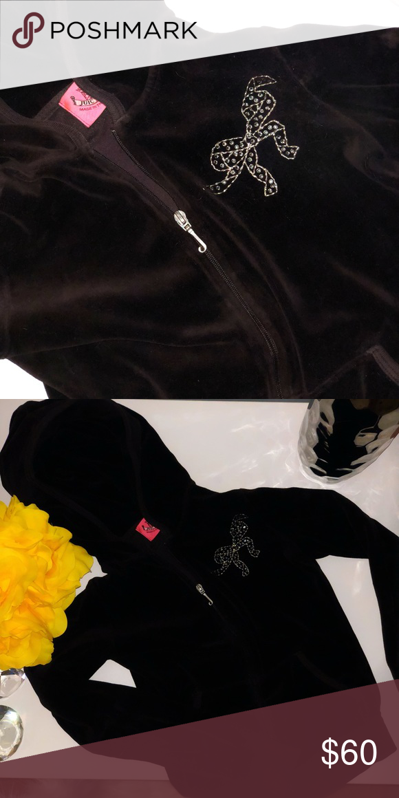 e7ae9c3bd9910 💎JUICY COUTURE TRACKSUIT JACKET 💎 BEAUTIFUL velvet brown Juicy Couture  tracksuit zip up jacket!