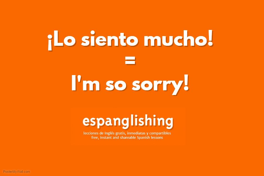 espanglishing free and shareable spanish lessons lecciones de ingls gratis y compartibles lo siento mucho im so sorry