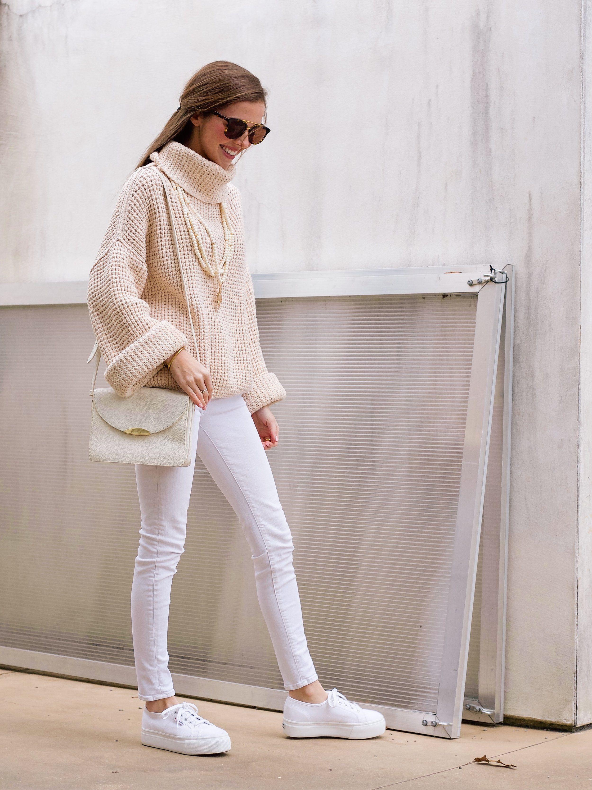 white superga outfit