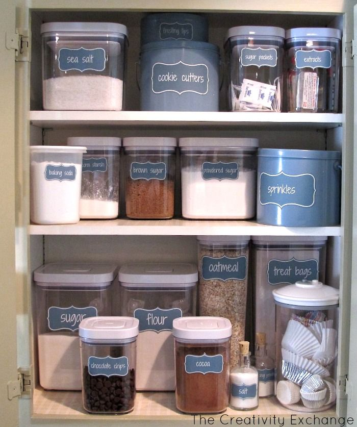 Charming Free Printable Labels To Organize A Baking Cabinet {The Creativity Exchange}